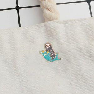Jewelry - ‼️5 for $25 SALE‼️Sloth Riding Hammerhead SharkPin
